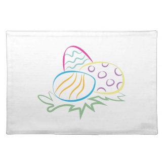 Easter Egg Outline Cloth Place Mat
