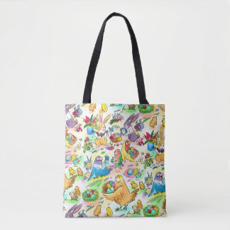 Easter egg party tote bag