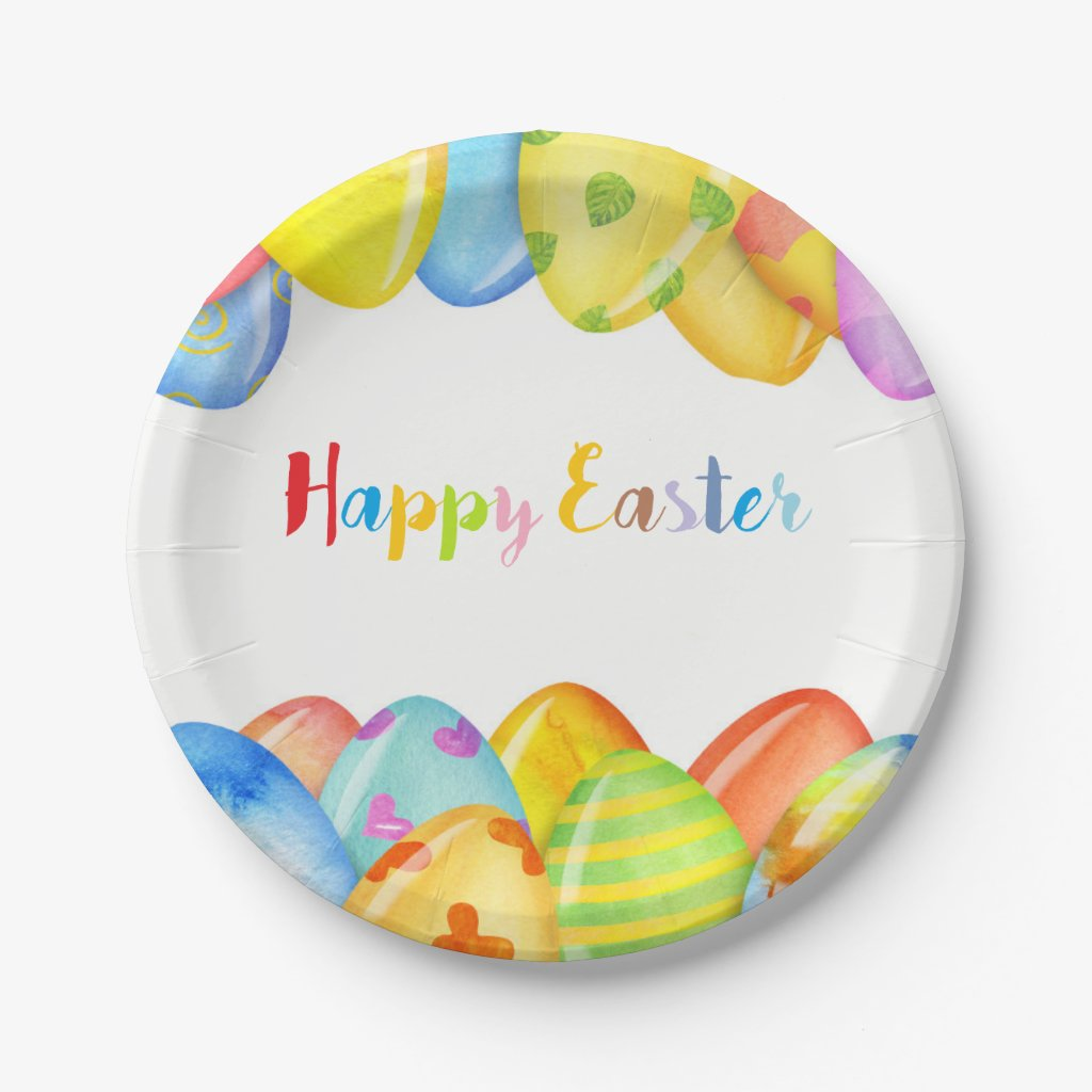 Easter Egg Pastel Paper Plate
