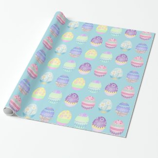 Easter Egg Pattern Colorful Wrapping Paper