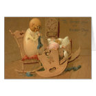 Easter Egg People Baby Clock Rocking Chair Card