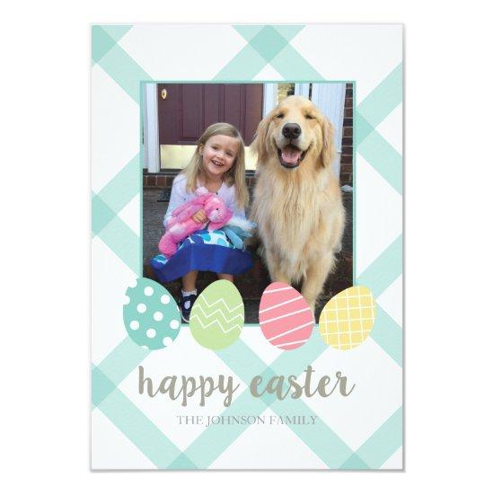 Easter Egg Photo Card Aqua