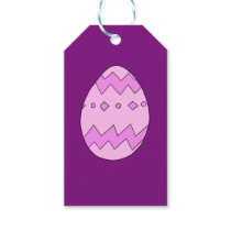 Easter egg pink gift tags