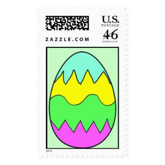 Easter Egg Postage Stamp
