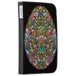Easter Egg Psychedelic Art Design Kindle Case