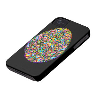 Easter Egg Psychedelic Design iPhone 4 4S Cases