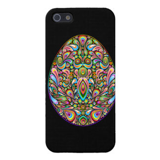 Easter Egg Psychedelic Design iPhone 5 Glossy Case Cover For iPhone 5