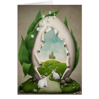 Easter Egg Rabbits Greeting Card