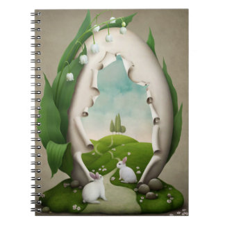 Easter Egg Rabbits Notebook