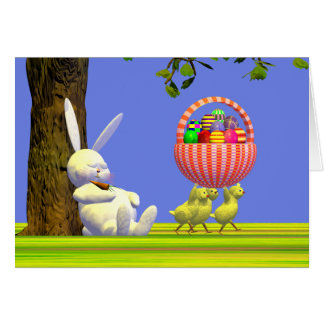 Easter Egg Robbers Greeting Card