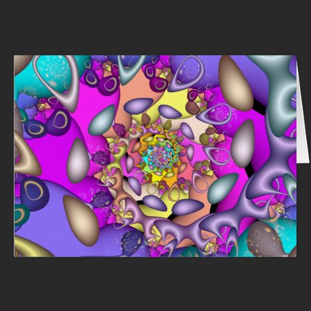 Easter Egg Roll Fractal Card