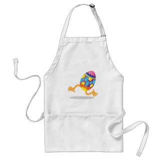 easter egg running adult apron