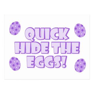 Easter Egg Saying Postcard