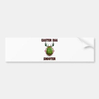 easter egg shooter, funny easter deer gift desgin bumper sticker