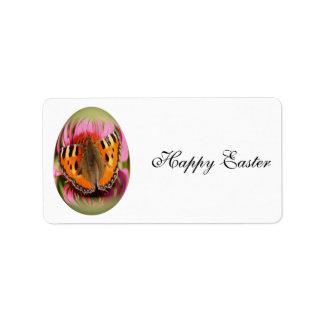 easter egg small tortoiseshell label