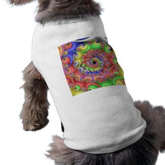 Easter Egg Spiral Fractal Doggie Tshirt