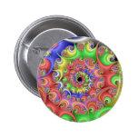 Easter Egg Spiral Fractal Pinback Button