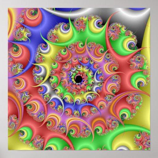 Easter Egg Spiral Fractal Print