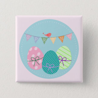 Easter Egg Springtime Lavender Blush Button