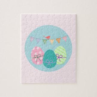 Easter Egg Springtime Lavender Blush Jigsaw Puzzle