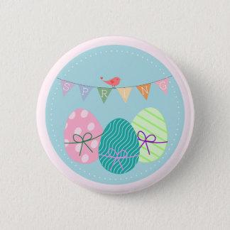 Easter Egg Springtime Lavender Blush Pinback Button