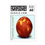 Easter egg stamp in Latvian