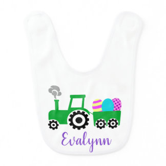 Easter Egg Tractor Bib