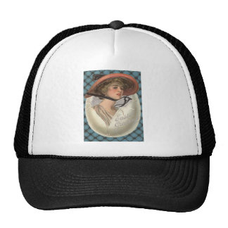 Easter Egg Victorian Woman Trucker Hat