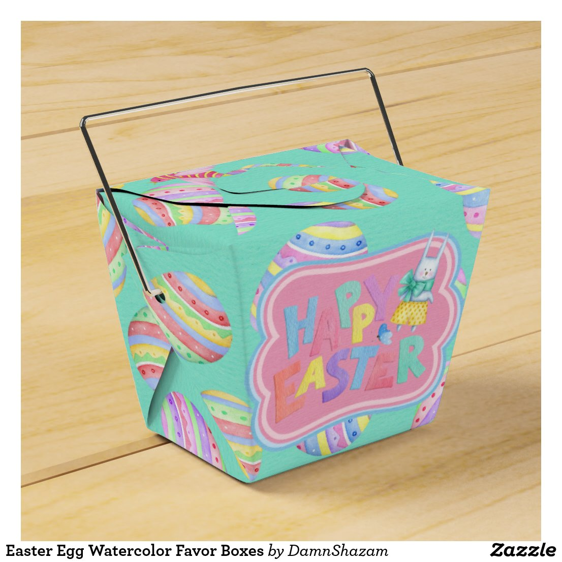Easter Egg Watercolor Favor Boxes