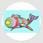 Easter Egg Whale - Customized Round Sticker