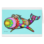 Easter Egg Whale Greeting Card