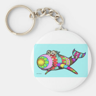 Easter Egg Whale Keychain
