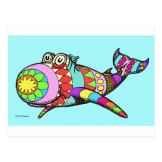 Easter Egg Whale Postcard