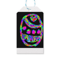 easter egg with black background but the egg gift tags