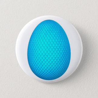 Easter Egg with Blue Metallic Finish Pinback Button