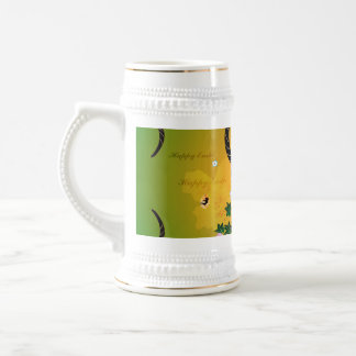 Easter egg with cute dragon and damasks 18 oz beer stein