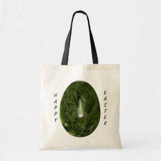 easter egg with daisy tote bag
