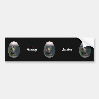 easter egg with ducklings car bumper sticker
