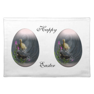 easter egg with ducklings cloth placemat