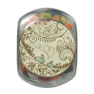 Easter Egg with Floral Elements Jelly Belly Candy Jar