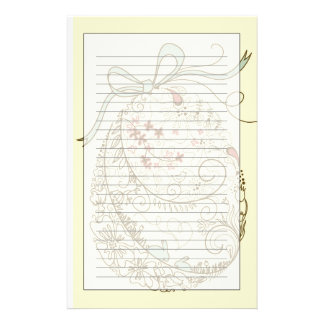 Easter Egg with Floral Elements Stationery