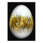 Easter egg with forsythia 5x7 paper invitation card