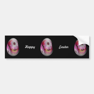 easter egg with gaudy flowers bumper sticker