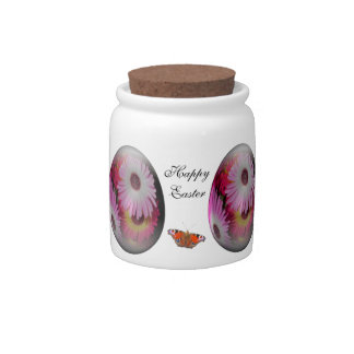 easter egg with gaudy flowers candy jar