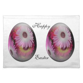 easter egg with gaudy flowers cloth placemat