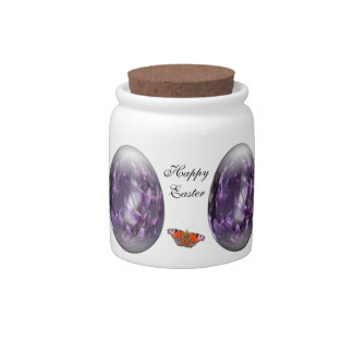 easter egg with wisteria candy dishes
