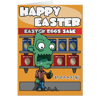 Easter Egg Zombie Card