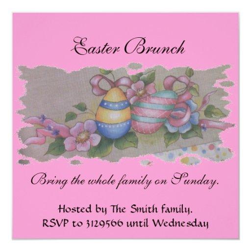 Easter Eggs 5.25x5.25 Square Paper Invitation Card