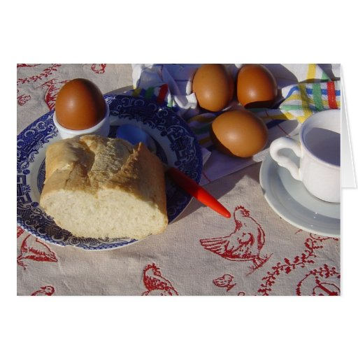 Easter eggs - a very French Breakfast Card
