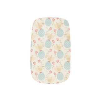 Easter eggs and baby chicks minx nail wraps